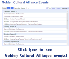 Golden Cultural Alliance Calendar of Events