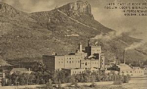 Coors Brewery - Established in Golden in 1873.