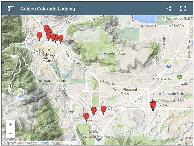 Lodging in Golden Colorado