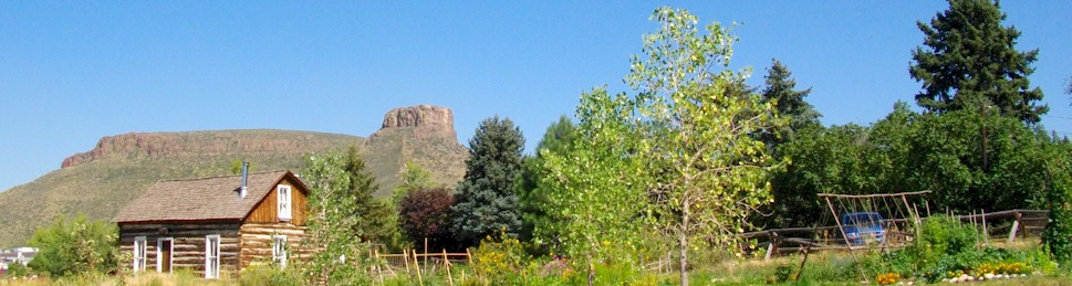 Clear Creek History Park with Castle Rock in the background - Goldlen Colorado