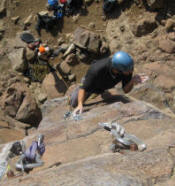 Rock climbing in Golden CO