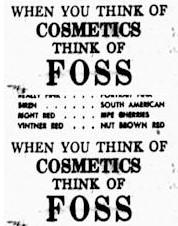 Foss Drug Advertisement