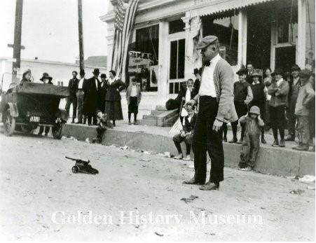 Armistice Day Celebration, 1918, in Golden CO